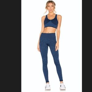 NWT Varley Quincy Legging in Navy Leopard Small